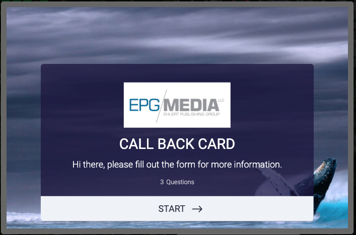 Marketing Call Back Card